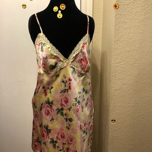 Simple Floral Silky Night Gown!!!
